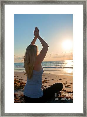 The Peace Within Framed Print by Liesl Marelli