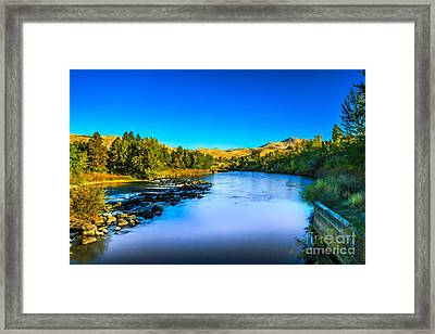 The Peaceful And Beautiful Payette River Framed Print by Robert Bales