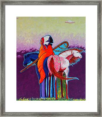 The Peacemakers Gift Framed Print by Joe  Triano