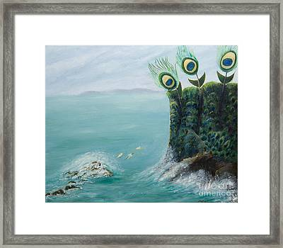 The Peacock Cliffs Framed Print