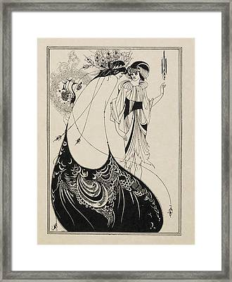 The Peacock Skirt. From Salome . Framed Print