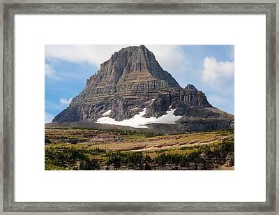 The Peak At Logans Pass Framed Print by John M Bailey