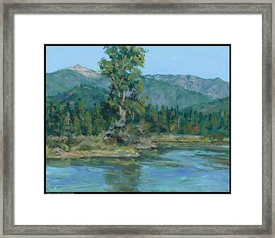 The Peak From Johnson Creek Framed Print by Diana Moses Botkin