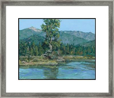The Peak From Johnson Creek Framed Print