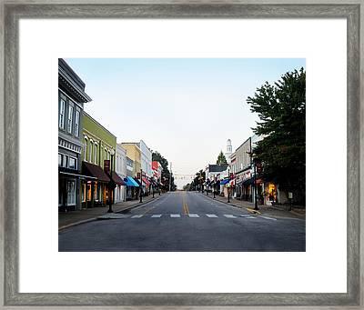 The Peak Of Good Living Framed Print