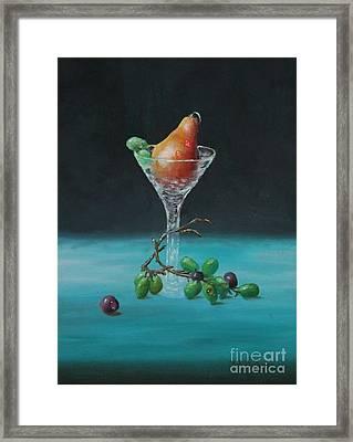 The Pear Martini Framed Print