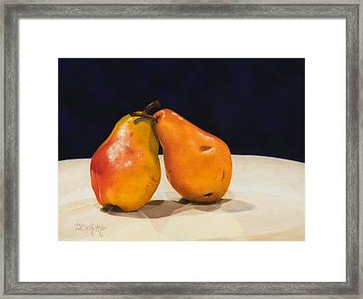 The Pearfect Pair Framed Print by Dee Dee  Whittle