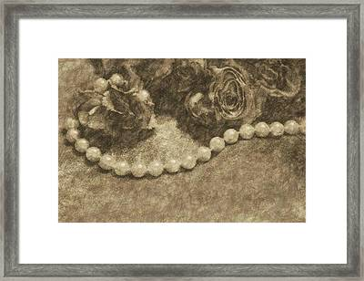 The Pearl Necklace Framed Print by The Art Of Marilyn Ridoutt-Greene