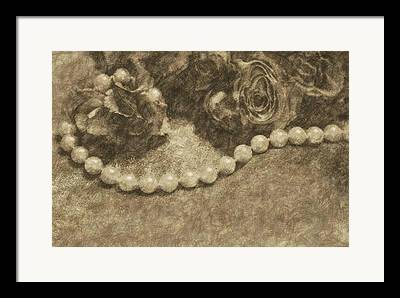 Special Necklace Drawings Framed Prints