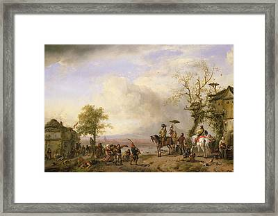 The Peasant Wedding Oil On Canvas Framed Print