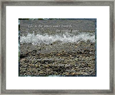The Pebbled Shore 2 Framed Print by Joan-Violet Stretch