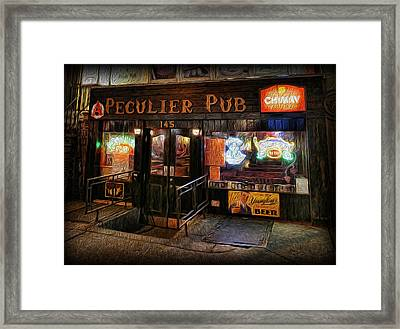 The Peculier Pub Framed Print by Lee Dos Santos