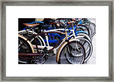 The Pedaling Of Vintage Time Framed Print by Steven Digman