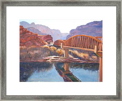 The Pedestrian Bridge Framed Print