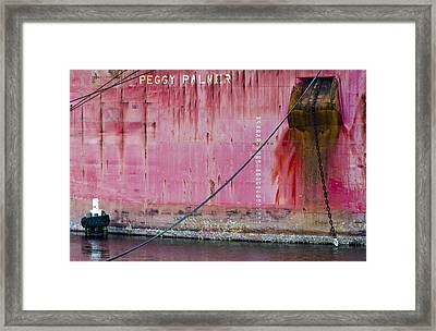 The Peggy Palmer Barge Framed Print by Carolyn Marshall