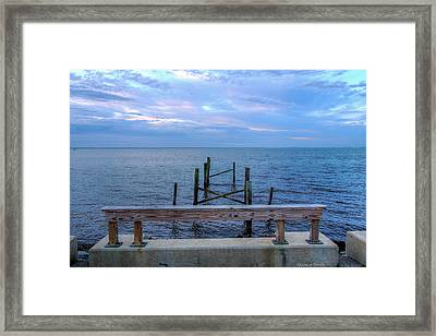 The Pier That Once Was Framed Print by Maurice Smith