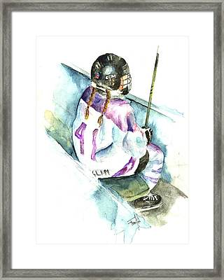 The Penalty Box Framed Print by Leslie Franklin