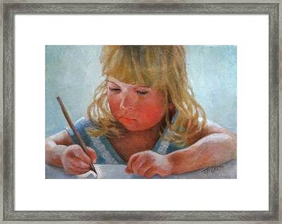The Pencil Framed Print by Janet McGrath