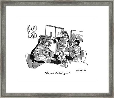 The Penicillin Looks Good Framed Print by Michael Crawford