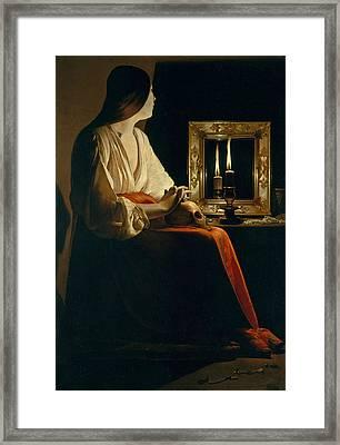 The Penitent Magdalen Framed Print