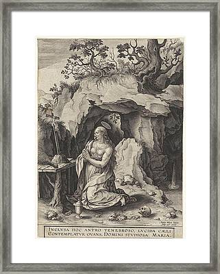 The Penitent Mary Magdalene, Antonie Wierix II Framed Print