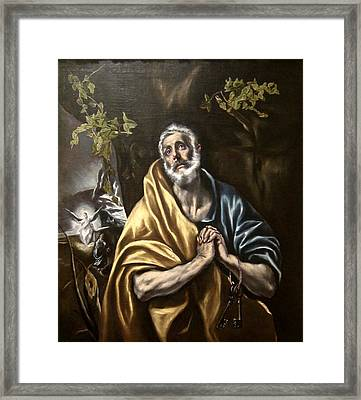 The Penitent Saint Peter Framed Print