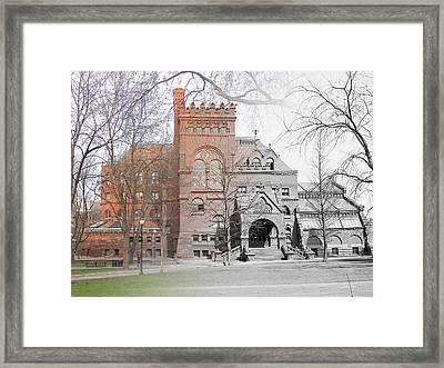 The Penn Library Framed Print
