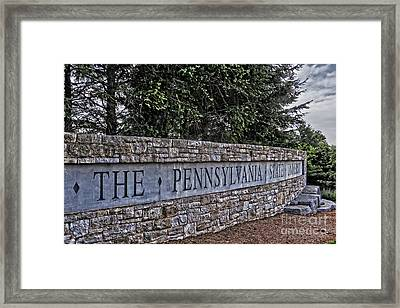 The Pennsylvania State University Framed Print