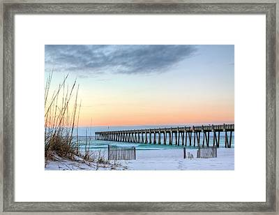 The Pensacola Beach Pier Framed Print by JC Findley