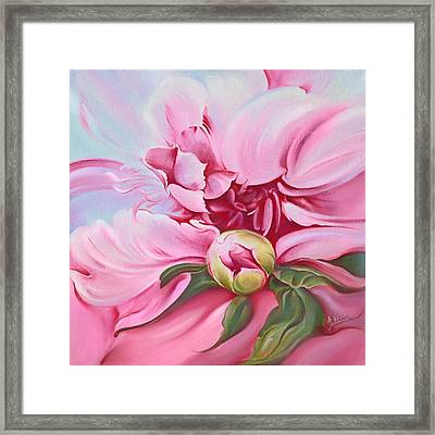 The Peony Framed Print