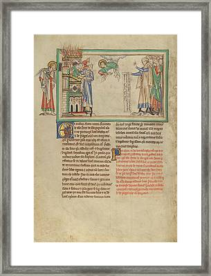 The People Of God Leaving Babylon And Merchants Lamenting Framed Print