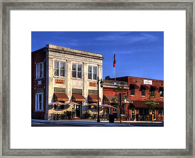 The Peoples Bank Building Framed Print