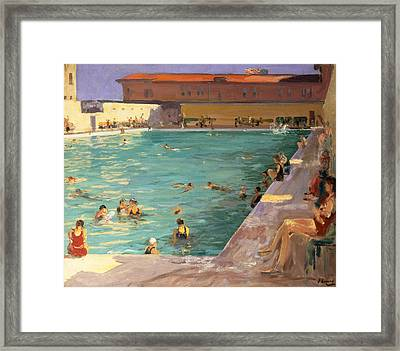The Peoples Pool, Palm Beach, 1927 Framed Print