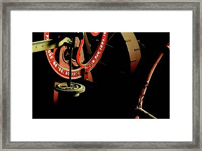 The Perfect Balance - Vintage Scales And Wheels Framed Print by Steven Milner