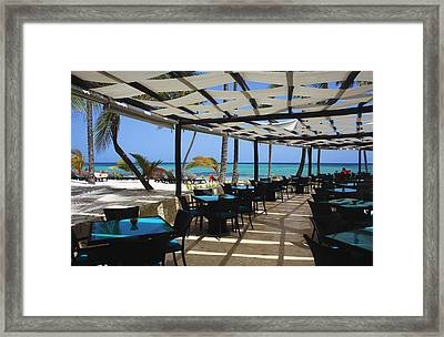 The Perfect Breakfast Spot Framed Print by Laurie Search