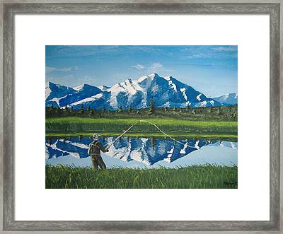 The Perfect Cast Framed Print by Norm Starks