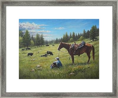 The Perfect Day Framed Print by Kim Lockman