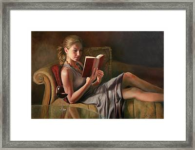 The Perfect Evening Framed Print by Anna Rose Bain