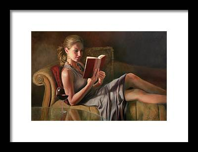 Woman Reading Framed Prints