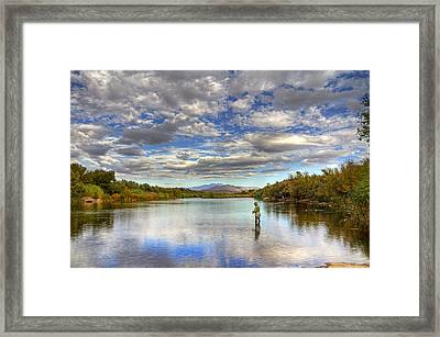The Perfect Fishing Spot Framed Print