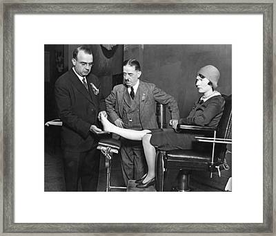 The Perfect Foot Framed Print by Underwood Archives