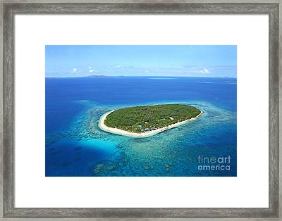 The Perfect Island Framed Print by Lars Ruecker