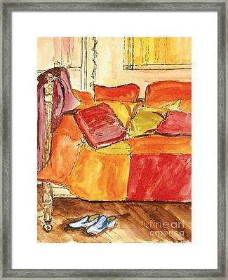Framed Print featuring the painting The Perfect Pair by Helena Bebirian