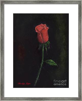 The Perfect Rose Framed Print by Becky Lupe