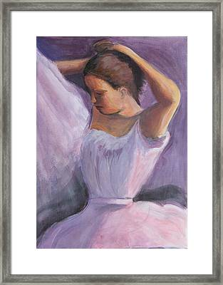 The Performance Framed Print by Gwen Carroll