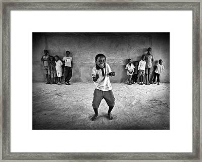 The Performer Framed Print