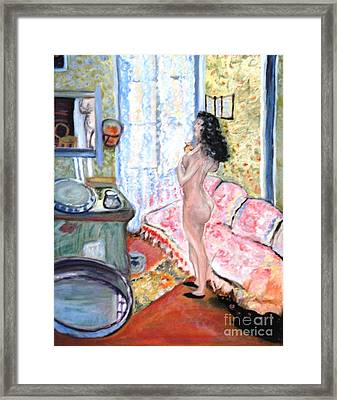 The Perfumed Room Framed Print by Helena Bebirian