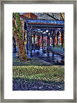 The Pergola In Pioneer Square II Framed Print by David Patterson