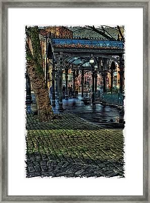 The Pergola In Pioneer Square IIi Framed Print by David Patterson