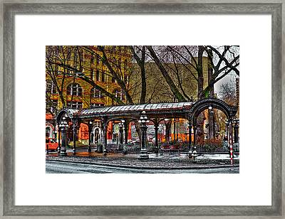 The Pergola In Pioneer Square - Seattle  Framed Print by David Patterson
